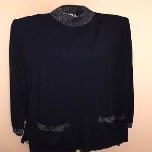 Karen Lessly Navy Blue Sweater Size 1X
